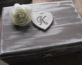 Personalized Wedding Ring Box You Pick Your Colors Romantic Antique Vintage Inspired Shabby Chic  Alternative Ring Pillow