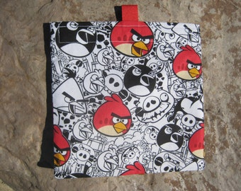 Angry Birds - Reusable Snack Bag, Reusable Sandwich Bag with easy open tabs