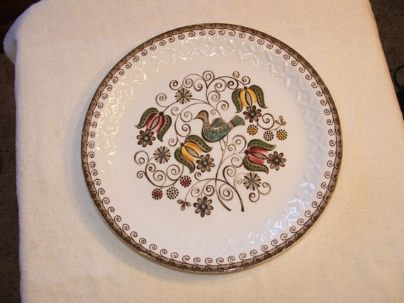 English Partridge Plate Number 4421 Staffordshire, England 10 inch