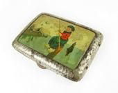 Antique Cigarette Case Dutch Boy Fishing, Germany - Le Cas de Cigarettes.