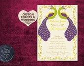 Rustic Peacock Wedding Invitation Program Cover Diy PRINTABLE Design Pdf Indian Template Set Invite Card Engagement Asian Thai Nepali Modern
