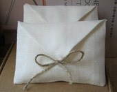 Linen favor / gift  envelope style bags.  Set of 50. Size : 4 1/2 inch (11cm )W x 3 1/2 inch (8.5 cm )H