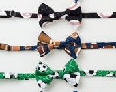 Boys Bow Ties - Sports Fan - Basketball, Baseball, Football, Soccer, or Hockey