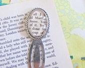 Anne of Green Gables Bookmark Silver Literature Clip LM Montgomery Marilla Cuthbert Literature Clip