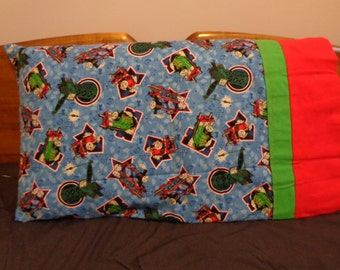 Starring Thomas and Friends - Standard Flannel Pillowcase Single