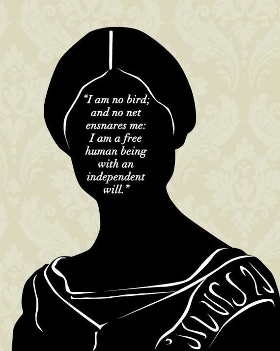 Quotes Jane Eyre Extraordinary Literary Art Print Jane Eyre I Am No Bird Jane Eyre