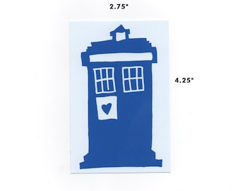 Tardis sticker doctor who time machine police box phone booth opaque decal