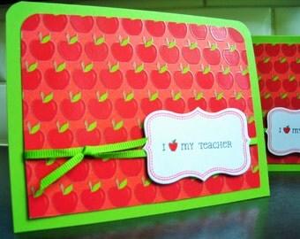 Teacher Appreciation Card, Teacher Thank You Card, Teacher Gift