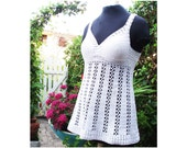The White Lace Top - Crochet Pattern - Instant Download