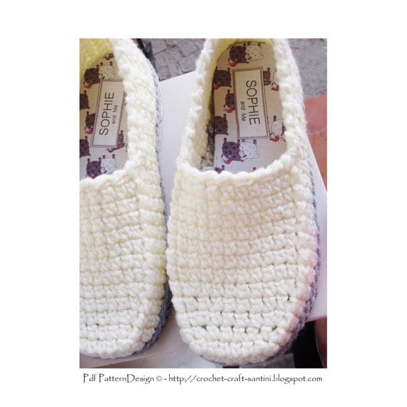Winter Loafer Crochet Pattern Slippers Basic Crochet Pattern