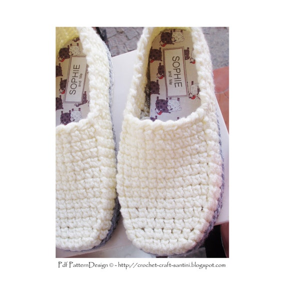 Free Crochet Pattern Loafer Slippers : Winter Loafer Crochet Pattern Slippers Basic Crochet Pattern