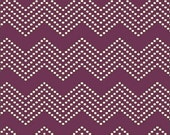 Windham Fabrics - Mosaica by Jackie Shapiro for French Bull - Mono Chevron in Purple - By The Yard