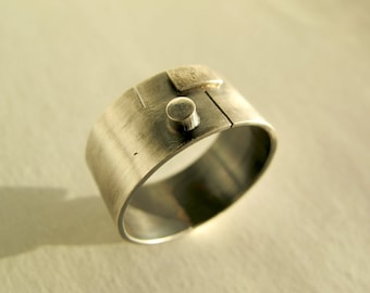 Retro, mans band, geometric band, made to order