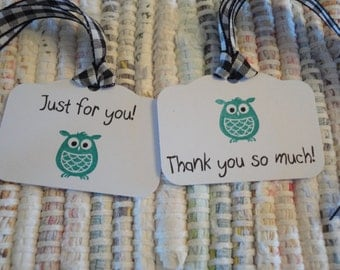 Gift Tags Little Owl  Set of 8