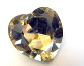 LIGHT COLORADO TOPAZ  - Large Light Golden Yellow Prism Crystal - 28mm / 1 1/8 inch -  Jewelry Supplies