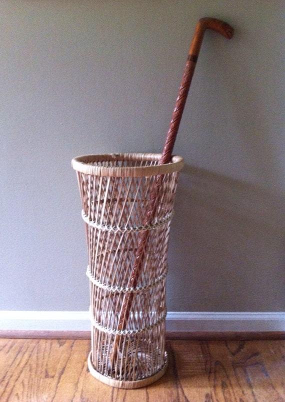 Rattan Straw Grass Umbrella Stand Wicker