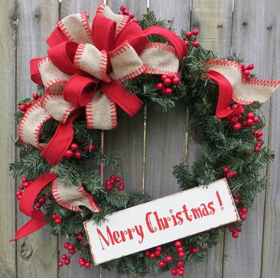 welcome christmas wreath on - photo #25