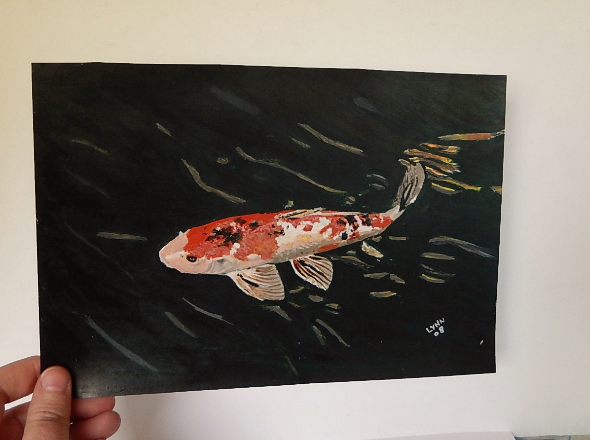Koi fish painting gold fish painting animal painting for Koi fish australia
