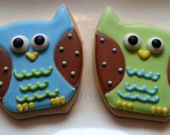 Colorful Owl Cookies 3 dozen