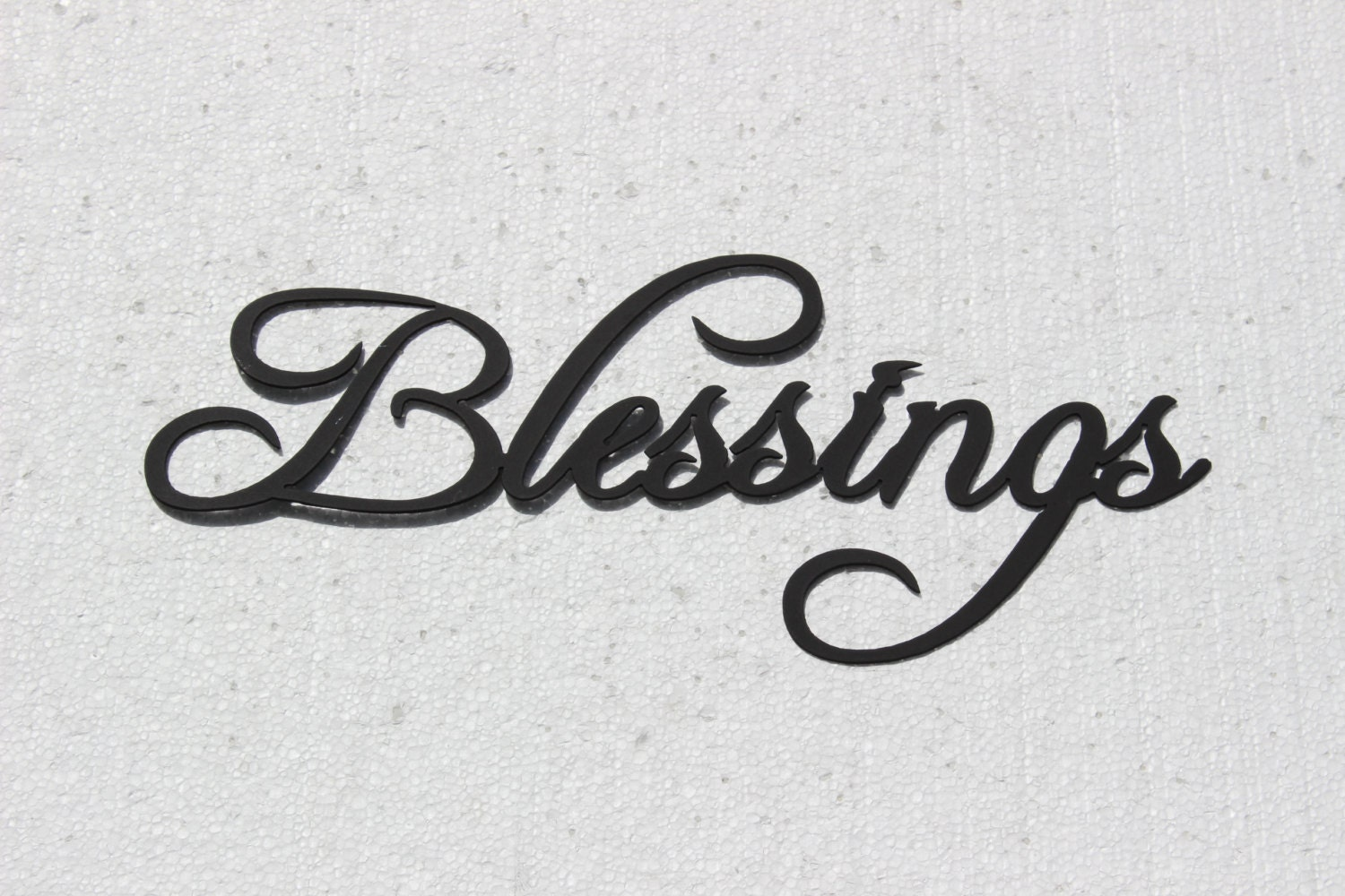 Blessings Word Sign Fancy Script Metal Wall By