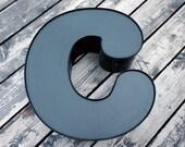Reclaimed Metal letter - C