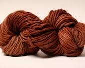 Single Ply sp Bulky Yarn  Hand dyed Merino 55sp13032 Chechen