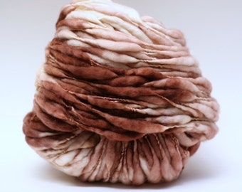 Handspun Yarn Wool Thick and Thin Slub  tts(tm) Superwash Superfine Merino Hand dyed SR N11B 07 Half-Pounder