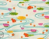 Half Yard Kingyo in White, De Leon Design Group, Alexander Henry Fabrics, 100% Cotton Fabric, 7778C
