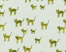 Hatbox Tiger Stripes in Green, Alexia Abegg, Cotton+Steel, RJR Fabrics, 100% Cotton Fabric, 4001-004