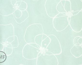 Half Yard Mormor Blomster in Mint, Lotta Jansdotter, Windham Fabrics, 100% Cotton Fabric, 37116-4