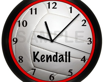 Volleyball Wall Clock Any Color Border