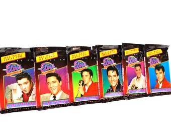 6 Elvis Collection Trading Card Packs 1992