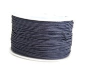 Dark Purple Waxed Cotton Cord (1mm) 10 m- 11 yards S 40 012