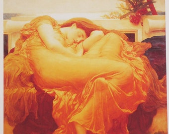 Flaming June, Art Print, Artwork, Famous Painting