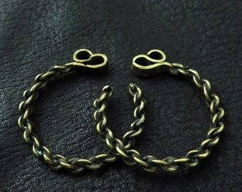Bronze temple rings from medieval Poland (medium size)