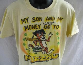 Vintage 1991 University of Missouri Airbrushed Shirt - Size Large (Fits Medium)