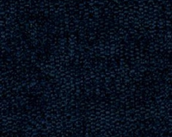 Plain Weave Super Soft Durable Chenille for Upholstery - Contemporary to Traditional Solid Upholstery Fabric - Color- Navy