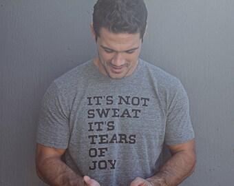 Mens T-shirt - Gray Crewneck - Mens Apparel - Fitness Inspired - Gym TShirt - CrossFit T-shirt -Mens T-shirt - Men's Heather Gray T-shirt
