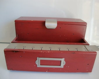 Schoolhouse Red Desk Organizer Wood Large