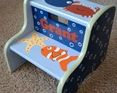 Ocean Step Stool, Children's Step Stool