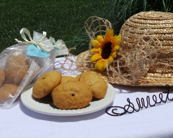 Edible Wedding Favors, Honey Cookies Favors, Bridal Shower Favors, 10 bags