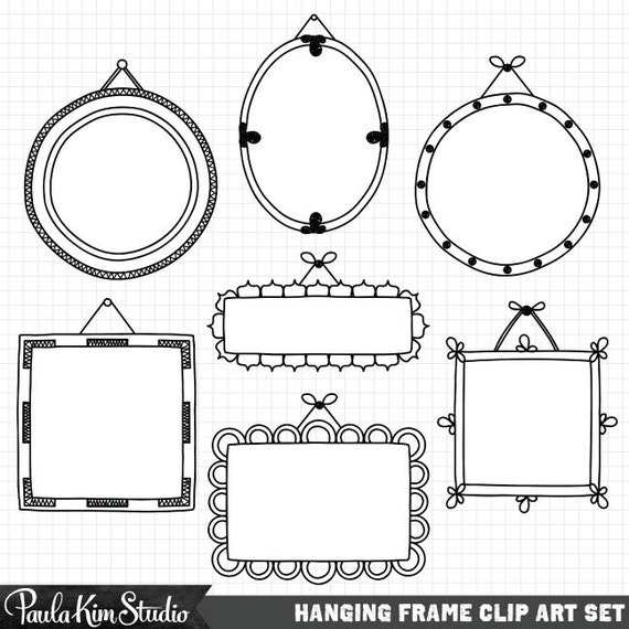 Frame Clipart, Hand Drawn Clip Art Frames, Commercial Use, Digital ...