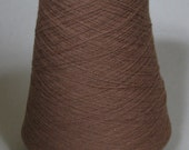 Pure Cashmere Yarn 100 % On Cone , 540 grams, Brown (Sand) color Nm 1/17,5