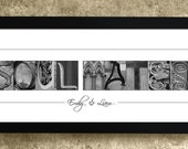 1st Anniversary Gift, Personalized Wedding Anniversary Gift, Soul Mates, Gift for Couples, Valentine's Day Gift