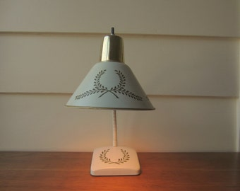Task light toleware lamp.  French Provincial desk light.