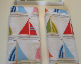 Sailboats Mini Car Seat Strap Covers
