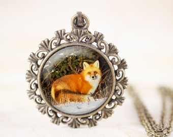 Fox Jewelry Necklace - Animal Jewellery, Wildlife Photography Pendant, Red Fox Necklace, Nature Pendant, Woodland Jewelry, Woodland Necklace