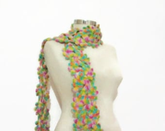 free ship Scarf, multicolor Necklace,collar, cowl ,capelet ,collar ,long shawl , scarves ,stole,handmade,crochet,gift for her,necklace,warm