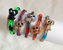 Birthday party favors loot bag party pack of 5 loom rubber band bracelets Puppies theme