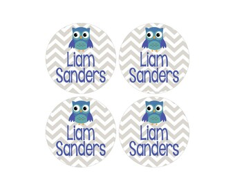 63 Waterproof Baby Labels - Large Round Bottle Labels - Great for daycare, school, baby showers and more